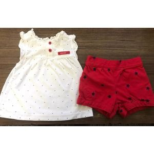 Child of Mine 4th Of July Outfit - Top and Bottom